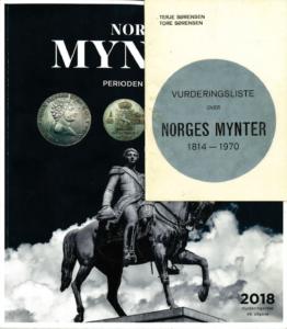 Norges Mynter første og 48. utgave. Samlerhuset Samlerforlaget Norges Mynter